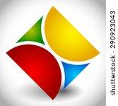 creative  multicolor square... | Shutterstock .eps vector #290923043