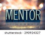 the word mentor written in... | Shutterstock . vector #290924327