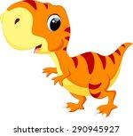 cute baby dinosaur cartoon | Shutterstock .eps vector #290945927