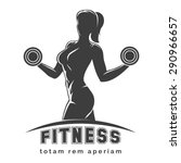 fitness club logo or emblem... | Shutterstock .eps vector #290966657