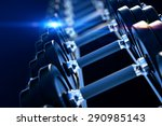 3d illustration of row of... | Shutterstock . vector #290985143