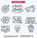marketing flat  line icons.... | Shutterstock .eps vector #290998577