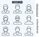 people icons  linear flat style | Shutterstock .eps vector #290998583