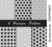 six hexagon pattern | Shutterstock .eps vector #290999807