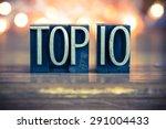 the word top 10 written in... | Shutterstock . vector #291004433