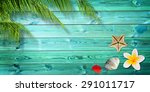 summer background with palm... | Shutterstock . vector #291011717
