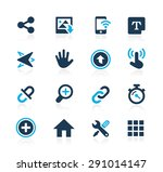 system icons interface    azure ... | Shutterstock .eps vector #291014147