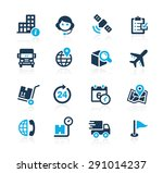 shipping and tracking    azure... | Shutterstock .eps vector #291014237