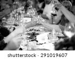 closeup black and white photo... | Shutterstock . vector #291019607
