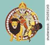 mythology indian goddess    ...   Shutterstock .eps vector #291051143