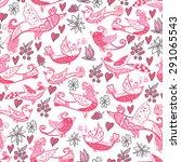 seamless bird pattern... | Shutterstock .eps vector #291065543