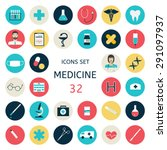 set icons medical tools and... | Shutterstock .eps vector #291097937