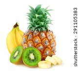 Isolated Fruits. Pile Of...