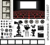 cinema theme vector set | Shutterstock .eps vector #291118037