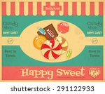 Candy Shop Retro Poster In...