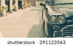 vintage light lamp car   soft... | Shutterstock . vector #291123563