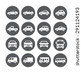 car icons | Shutterstock .eps vector #291124193