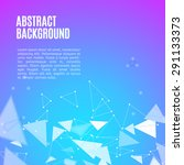 vector polygonal abstract... | Shutterstock .eps vector #291133373