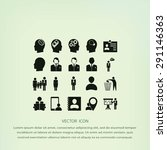 business man icons | Shutterstock .eps vector #291146363