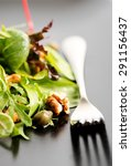 fresh ecological salad mix with ... | Shutterstock . vector #291156437
