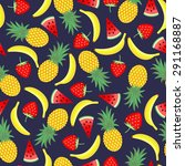 seamless pattern with yellow... | Shutterstock .eps vector #291168887