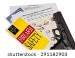 gun with firearm application... | Shutterstock . vector #291182903