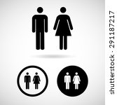 vector a man and a lady toilet...   Shutterstock .eps vector #291187217
