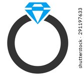 diamond ring icon from commerce ... | Shutterstock . vector #291197633