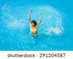 top view of a  girl in the... | Shutterstock . vector #291204587