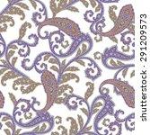 paisley pattern   Shutterstock .eps vector #291209573