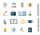 flat science icons set | Shutterstock . vector #291209957