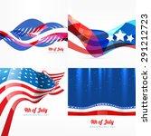 vector set of american... | Shutterstock .eps vector #291212723