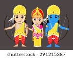 lord rama with mata sita and... | Shutterstock .eps vector #291215387