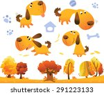 cartoon dog collection | Shutterstock .eps vector #291223133