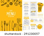 restaurant cafe menu  template... | Shutterstock .eps vector #291230057