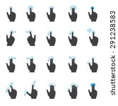 Touch Screen Hand Gesture Icon...