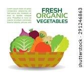 fresh organic vegetables in... | Shutterstock .eps vector #291246863