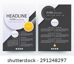 abstract vector modern flyer... | Shutterstock .eps vector #291248297