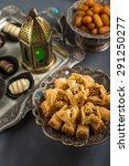 mediterranean baklava  date... | Shutterstock . vector #291250277