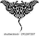 stingray maori is isolated on... | Shutterstock .eps vector #291287207