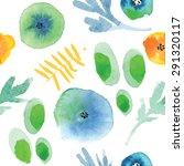 modern floral seamless pattern... | Shutterstock .eps vector #291320117