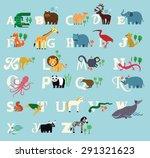 animal alphabet. zoo alphabet . | Shutterstock .eps vector #291321623