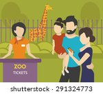 family with children is going... | Shutterstock .eps vector #291324773