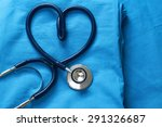 doctor coat with stethoscope | Shutterstock . vector #291326687