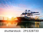 trade port in the morning | Shutterstock . vector #291328733