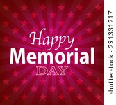 4th july happy memorial day... | Shutterstock .eps vector #291331217