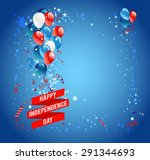 independence day card with... | Shutterstock .eps vector #291344693