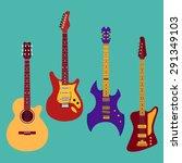 set of different guitars....   Shutterstock .eps vector #291349103