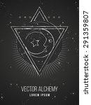 vector geometric alchemy symbol ... | Shutterstock .eps vector #291359807