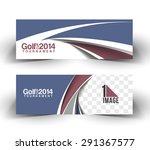 golf cup header   banner design | Shutterstock .eps vector #291367577